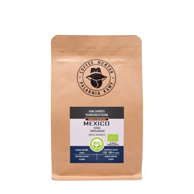KAWA ZIARNISTA ARABICA 100 % MEKSYK BIO 250 g - COFFEE HUNTER