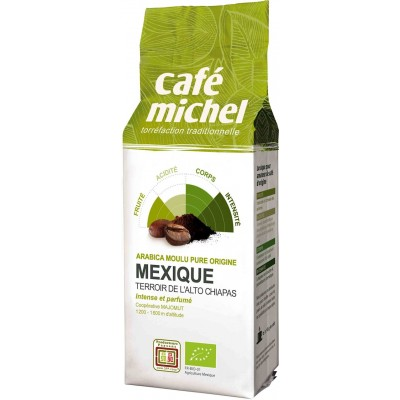 KAWA MIELONA ARABICA 100% MEKSYK FAIR TRADE BIO 250 g - CAFE MICHEL