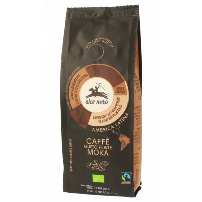 KAWA MIELONA ARABICA/ROBUSTA STRONG FAIR TRADE BIO 250 g - ALCE NERO