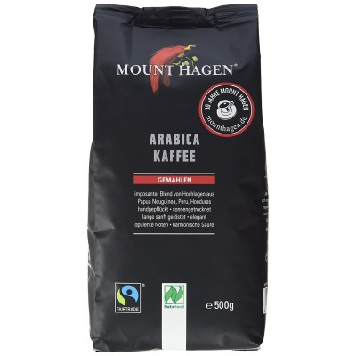 KAWA MIELONA ARABICA 100% FAIR TRADE BIO 500 g - MOUNT HAGEN